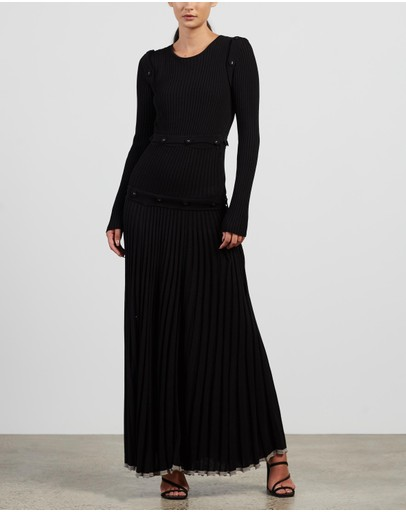 Christopher Esber - Deconstruct Long Sleeve Knit Dress