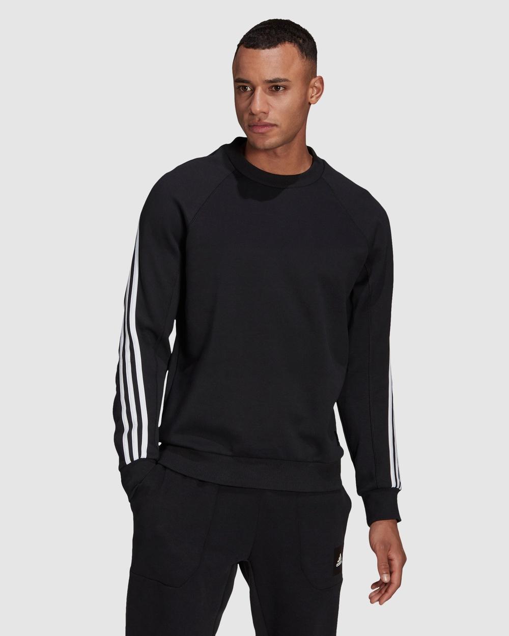 adidas Performance Sportswear 3 Stripes Sweatshirt Jumpers & Cardigans Black 3-Stripes