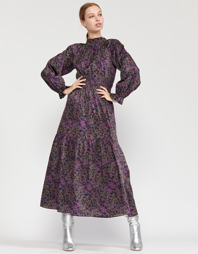 Cynthia Rowley - Marbelle Smocked Waist Printed Cotton Dress