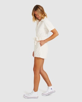 Subtitled Libby Towelling Playsuit - Jumpsuits & Playsuits (WHITE)
