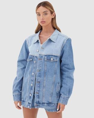 4th & Reckless - Mirissa Denim Jacket - Denim jacket (Blue Mix) Mirissa Denim Jacket