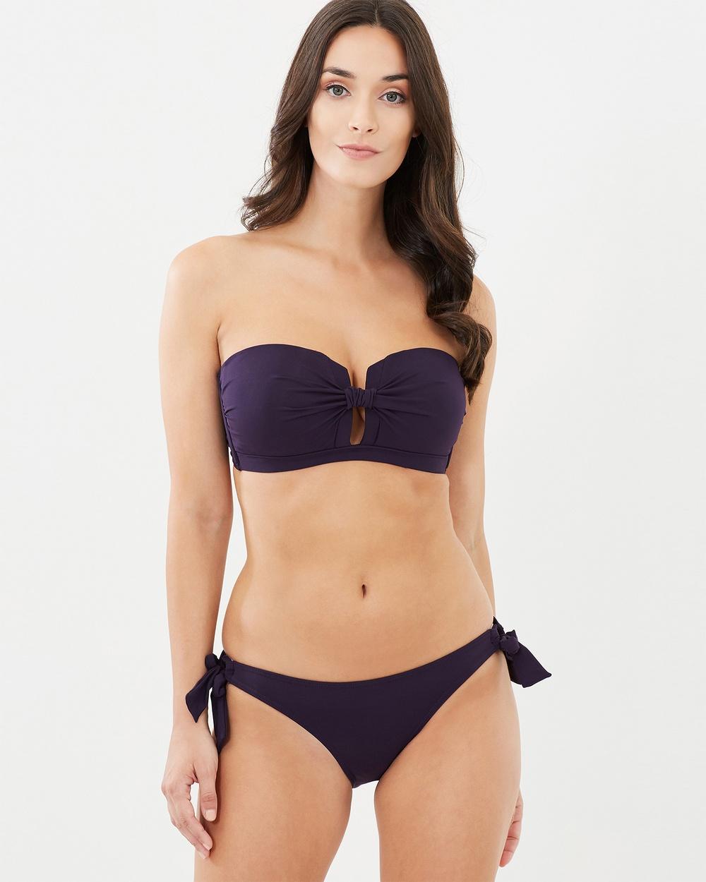 JETS Tab Front Bandeau Bikini Tops Multi Tab Front Bandeau