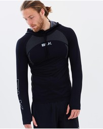 BLK - Men's Motion Knit Pullover Hoodie