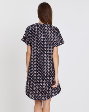 Privilege Shift Dress - Printed Dresses (Apricot)