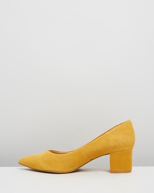 Atmos&Here Marli Leather Heels - All Pumps (Marigold Suede)