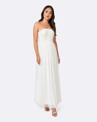 Forever New – Jane Strapless Tulle Maxi Dress – Bridesmaid Dresses White