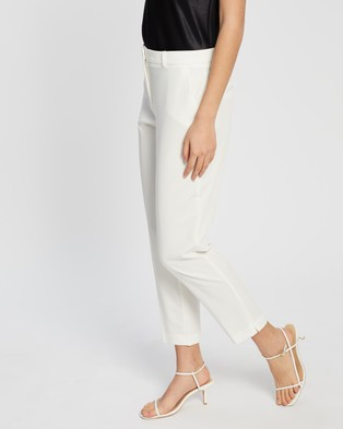 Dorothy Perkins Ankle Grazer Trousers - Pants (Cream)