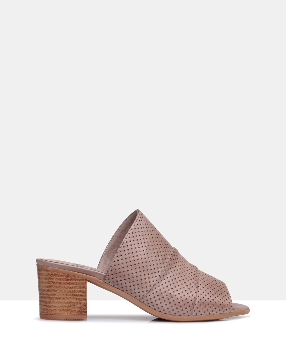 Sempre Di Hunter Leather Mules Mid-low heels Grey Hunter Leather Mules