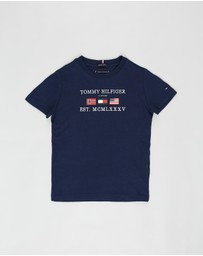 Tommy Hilfiger - Flags Alpine SS Tee - Kids