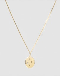 Luna Rae - Solid Gold - Stars of Gemini Necklace