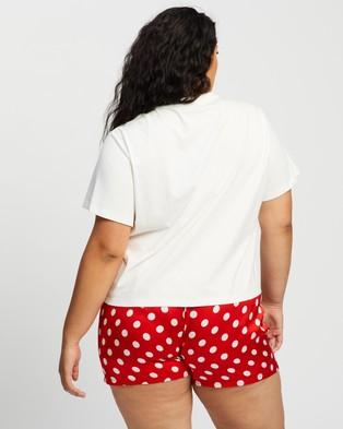 Atmos&Here Curvy Santa Baby Tee - Sleepwear (White)