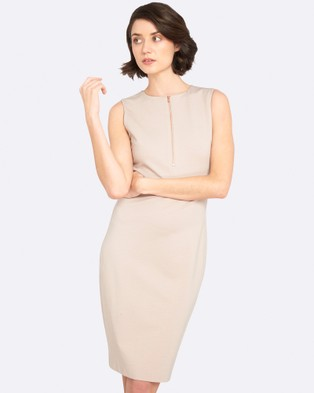 Oxford – London Ponti Dress Nude Pink