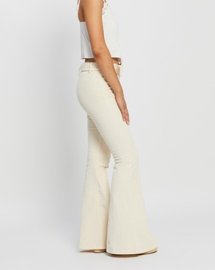 LENNI the label Lykke Belted Pants - Pants (Beige Cord)