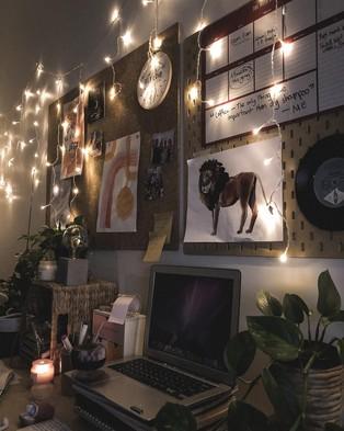 Typo Curtain Lanterns - Home (Warm Light)