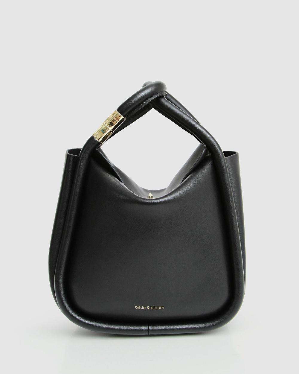 Belle & Bloom Free Soul Leather Handbag Black Handbags Black