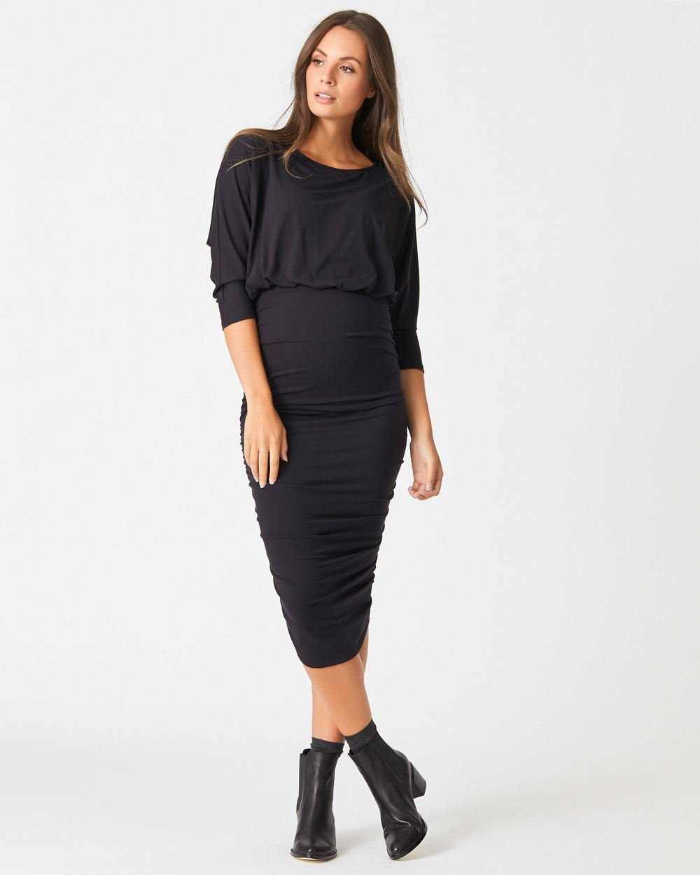 Pea in a Pod Maternity Aspen Nursing Dress Dresses Black Aspen Nursing Dress