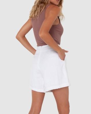 Madison The Label Charlotte Shorts - High-Waisted (White)