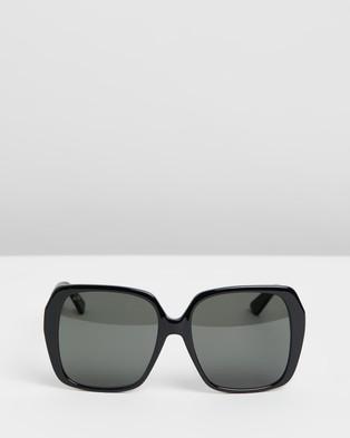 Gucci GG0533SA Alternate Fit - Square (Black & Grey)