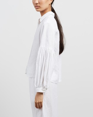 Des Sen Corbusier Crop Shirt - Tops (Blanca)