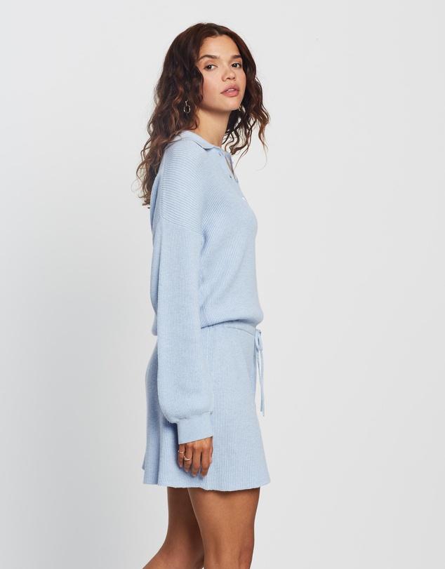 Women Organic Cotton & Cashmere Knit Playsuit