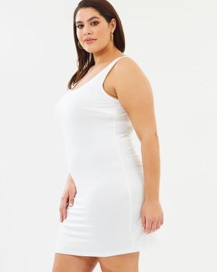 Advocado Plus Essential Short Slip - Dresses (Off White)