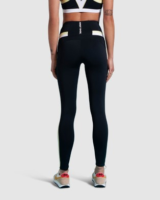First Base Impact Full Length Legging - Compression Bottoms (Black)