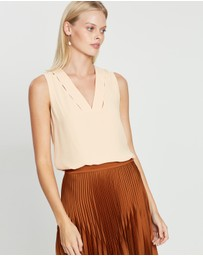 REISS - Bruna V-Neck Layering Top