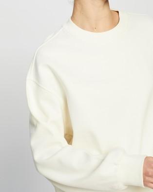 AERE Organic Cotton Comfort Sweat Top - Sweats (Coconut)