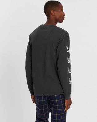 Thrills Wings Badge Merch Long Sleeve Tee - T-Shirts & Singlets (Merch Black)
