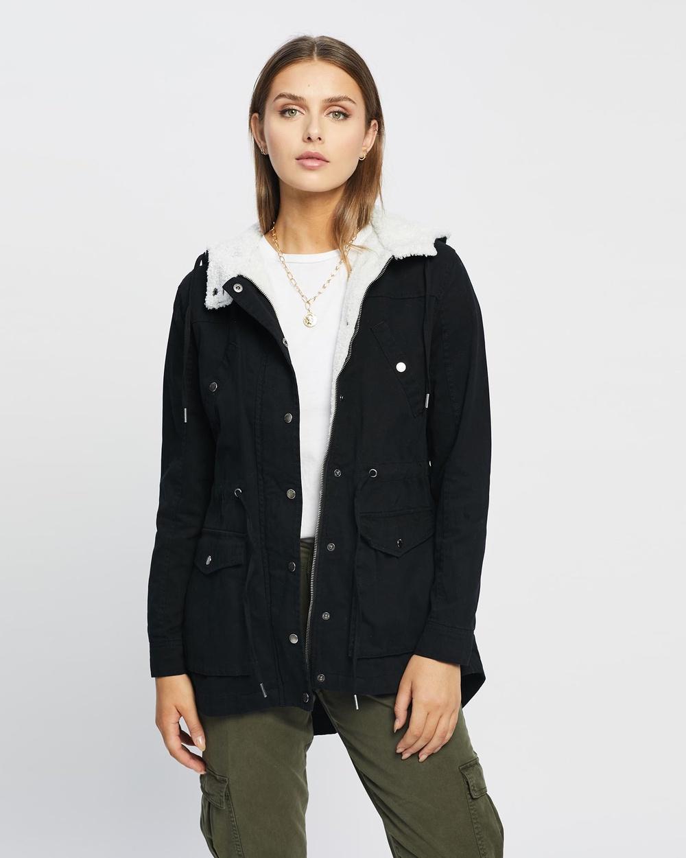 All About Eve Eddy Parka Coats & Jackets Black