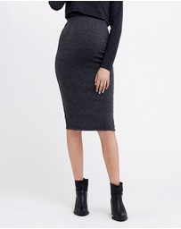 Ripe Maternity - Ribbed Knit Pencil Skirt