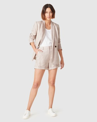 French Connection Linen Relaxed Blazer - Coats & Jackets (CHECK)