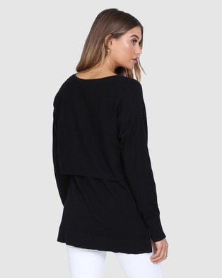 Madison The Label Courtney Knit - Jumpers & Cardigans (Black)