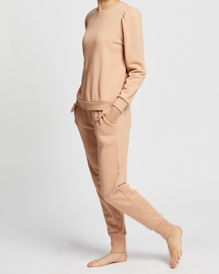 Gingerlilly Harmony   Sweat And Jogger Set - Sweats (Tan)