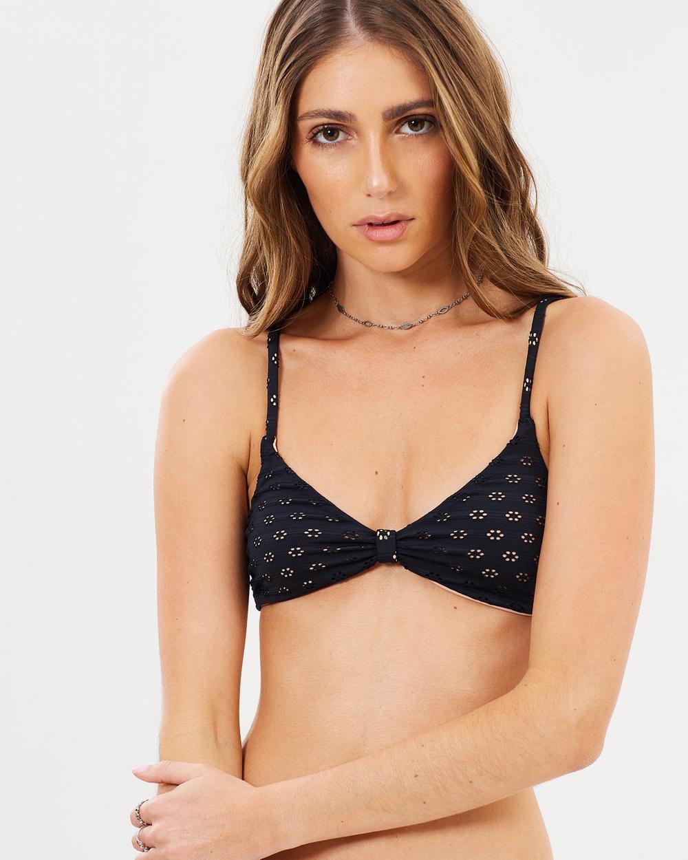Amuse Society Darla Bralette Bikini Tops Solid Black Darla Bralette