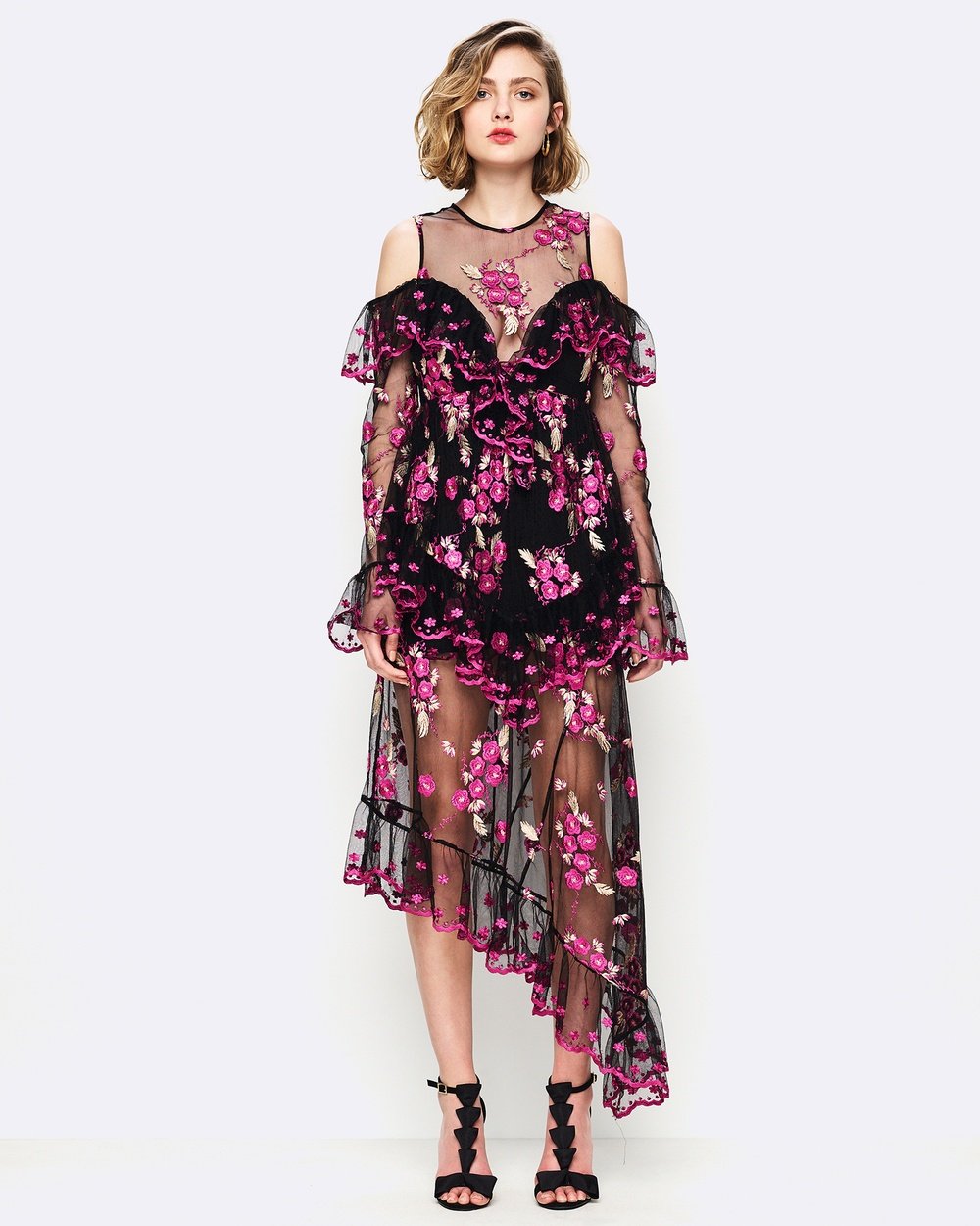 alice McCALL Mirage Gown Printed Dresses Black Mirage Gown