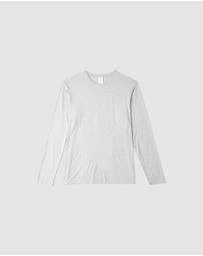 Boody Organic Bamboo Eco Wear - Long Sleeve Crew Neck T-Shirt