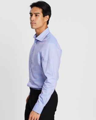 SABA Giza Contemporary Long Sleeve Slim Shirt - Shirts & Polos (blue)
