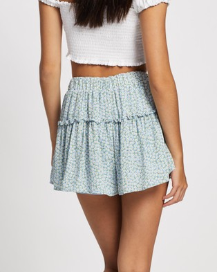 All About Eve Mischa Shorts - High-Waisted (PRINT)