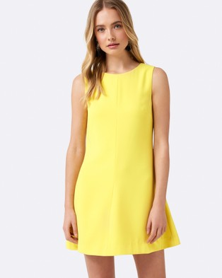 Forever New – Brooklyn Shift Dress Lemon