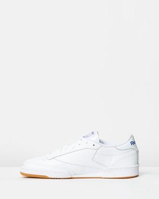 Reebok Club C 85   Unisex - Sneakers (White, Royal Blue & Gum)