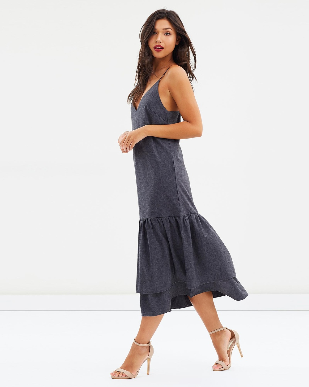 DELPHINE Convergence Dress Dresses Grey Convergence Dress