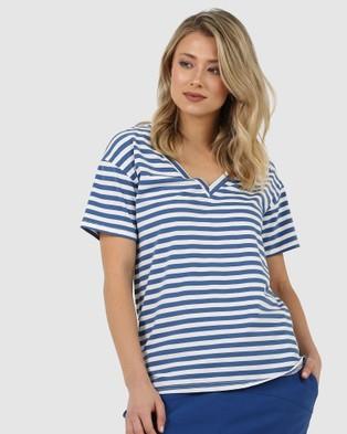 Lincoln St Glimpse Tee - T-Shirts & Singlets (Denim)