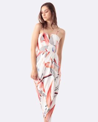 Amelius – Foliar Dreams Bustier Dress Multi