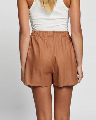 Atmos&Here Jacinta Ramie Shorts - Shorts (Rust)