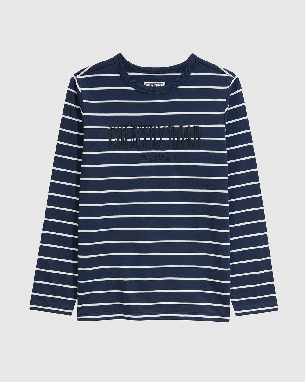 Country Road Teen Verified Australian Cotton Heritage T shirt T-Shirts & Singlets blue T-shirt Australia