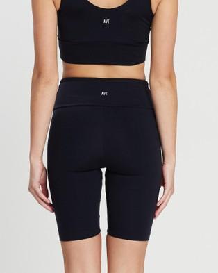 AVE Activewoman High Waist Biker Shorts Black