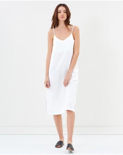 Assembly Label Linen Slip Dress White