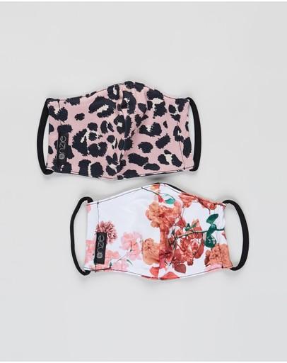 Onzie Mindful Masks - 2-pack Rose & Animal