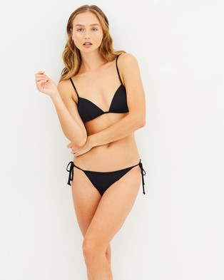 CAMILLA AND MARC – Aurora Thin Strap Bikini Set – Bikini Set Black